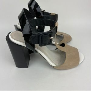 JEFFREY CAMPBELL Two Tone Chunky Heels Colorblock